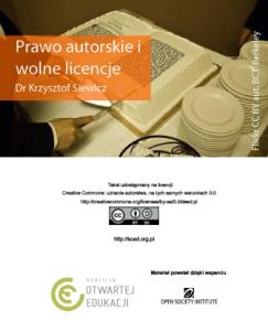 Prawo autorskie iwolne licencje